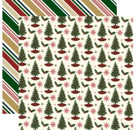 Papier double 30x30 'Echo Park Paper - Twas The Night Before Christmas' Holiday Cheer