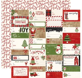 Papier double 30x30 'Echo Park Paper - A Perfect Christmas' Gift Tags