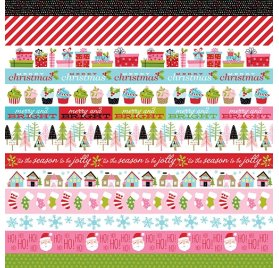 Papier double 30x30 'Bella Blvd - Santa Stops Here' Borders