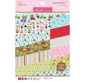 Assortiment 15x20 'Bella Blvd - Santa Stops Here' Qté 24