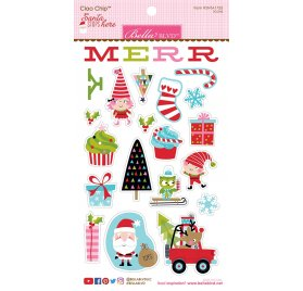 Chipboards 'Bella Blvd - Santa Stops Here' Qté 23