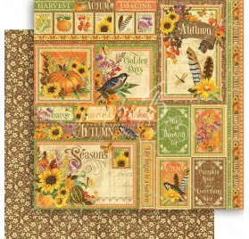 Papier double 30x30 'Graphic 45 - Seasons Collection' Autumn Collective
