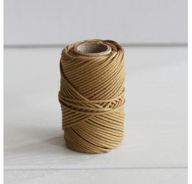 Cordon Wax Macramé 1 mm 'Kesi Art - Run The Cord Moutarde