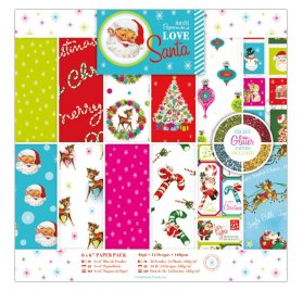 Assortiment 15x15 'Docrafts - Love Santa' Qté 36