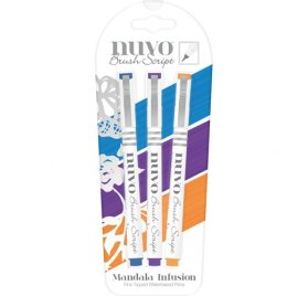 Lot de 3 feutres 'Nuvo - Brush Script' Mandala Infusion