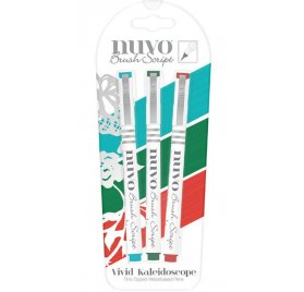 Lot de 3 feutres 'Nuvo - Brush Script' Vivid Kaleidoscope
