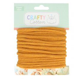 Fil tricotin Honey 'Artemio - Crafty Cotton' Ocre 5 mm x 5 m