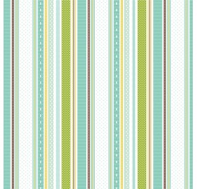 Papier double 30x30 'Echo Park Paper - Sweet Baby Boy' Baby Boy Ribbons