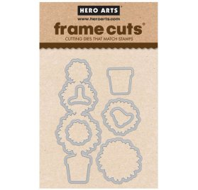 7 Dies/Matrices de découpe 'Hero Arts' Layered Topiary Frame Cuts