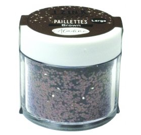 Paillettes 'Aladine - Izink Glitter' Marron 30 ml