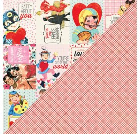 Papier double 30x30 'Authentique - Lovestruck' Lovestruck Eight