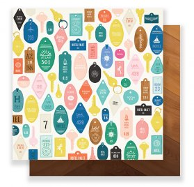 Papier double 30x30 'Crate Paper - Here There' Check-In