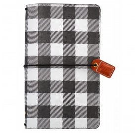 Carnet de voyage 'Webster's Pages - Color Crush' Travelers Notebook Buffalo Plaid