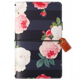 Carnet de voyage 'Webster's Pages - Color Crush' Travelers Notebook Floral Noir