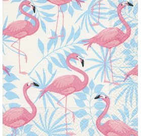20 Serviettes 33x33 'Graine Créative' Flamant Rose
