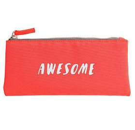 Trousse 'Rico Design' Orange Fluo 10x21.5 cm