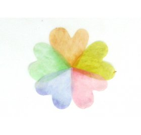 200 Autocollants Washi 'Rico Design - Paper Poetry' Pétales multicolores Love Luck 2x2 cm