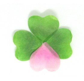 200 Autocollants Washi 'Rico Design - Paper Poetry' Pétales verts et roses Love Luck 1.5x1.5 cm