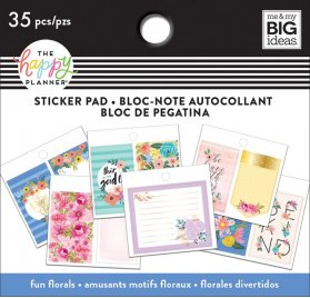 Petit bloc de 35 autocollants 'Me & My Big Ideas - The Happy Planner' Fun Florals
