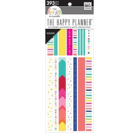 393 autocollants washi 'Me & My Big Ideas - The Happy Planner' Brights
