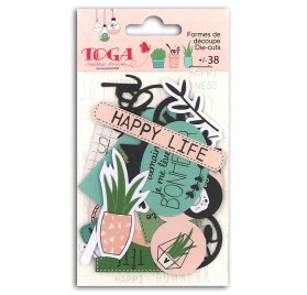 58 Die-cuts 'Toga - Happy Days' Formes et mots