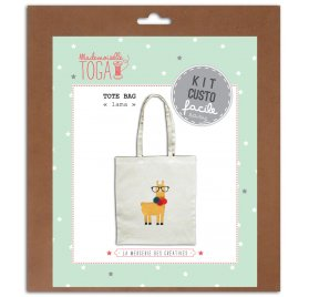 Kit Couture facile 'Toga' Tote Bag Lama Pompons