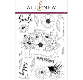 Tampons transparents 14.8x25 cm 'Altenew' Happy Bloom
