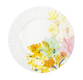 Lot de 8 assiettes en carton 27 cm 'Talking Tables - Fluorescent Floral'