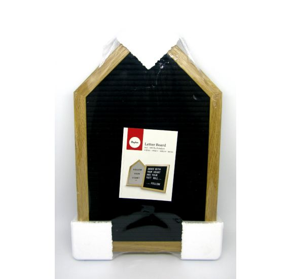 Letter Board' Rayher'  Maison noire avec lettres blanches