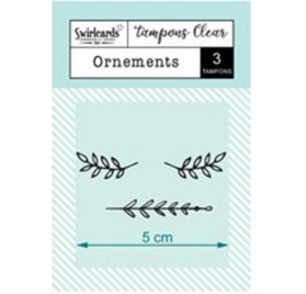 3 Tampons transparents 'Swirlcards' Ornements