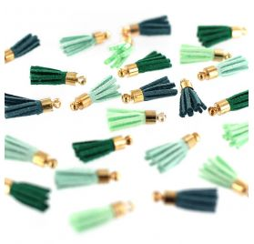 24 mini pompons 'Florilèges Design' Soft and Green