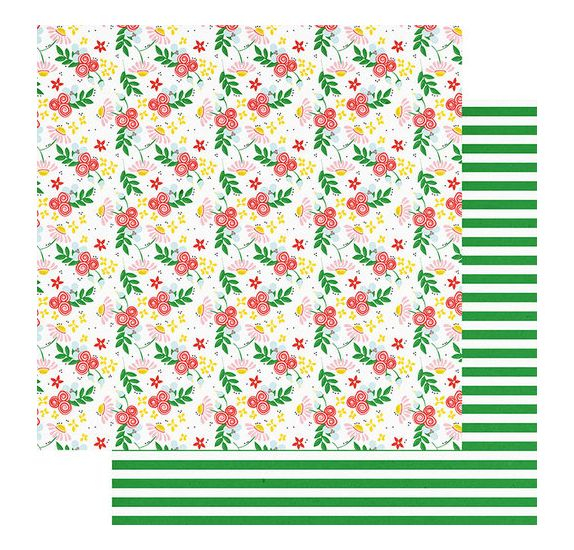 Papier double 30x30 'Fancy Pants - The bright Side' Coming up roses