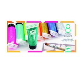 Set de 8 tubes de gel pailleté 'Djeco'