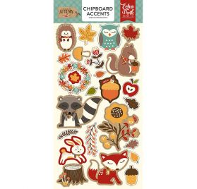 Chipboards autocollants 'Echo Park Paper - Celebrate Autumn'