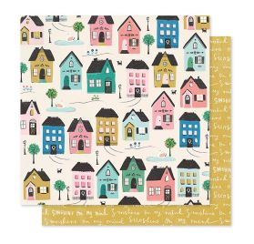 Papier double 30x30 'Crate Paper - Willow Lane' Cottage