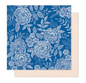 Papier double 30x30 'Crate Paper - Willow Lane' Sweet Rose