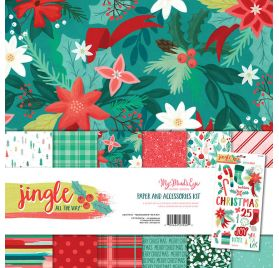Assortiment de 6 papiers doubles 30x30 'My Mind's Eye - Jingle all the way'