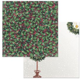 Papier double 30x30 'BoBunny - Christmas in the Village' Holly