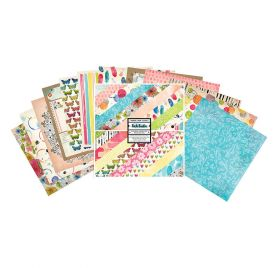 Assortiment de 24 papiers doubles 30x30 'Vicki Boutin - Field Notes'
