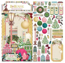 Assortiment de 64 die-cuts 'Bobunny - Christmas in the Village' Noteworthy