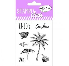 8 Tampons transparents 'Aladine - Stampo Clear' Summer