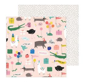 Papier double 30x30 'Crate Paper - Hooray' Party