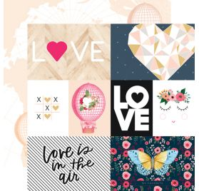 Papier double 30x30 'Webster's Pages - Love is in the air ' Love is in the air