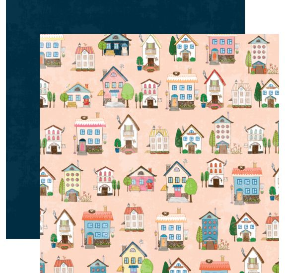 Papier double 30x30 'Webster's Pages - Love is in the air 'Home sweet home