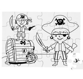 Lot de 2 Puzzles à colorier A5 'Creativ Company' Pirates