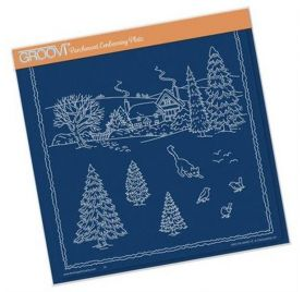 Plaque d'embossage pour Pergamano 'Groovi' Winter Scene Cat