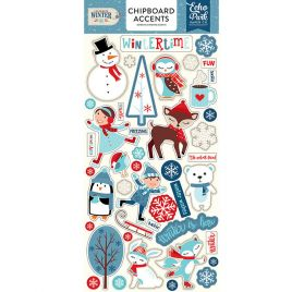 Chipboards autocollants 'Echo Park Paper - Celebrate Winter '