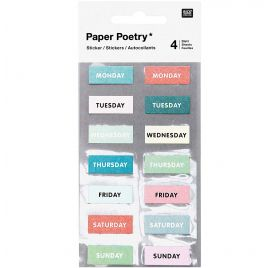 Autocollants 'Rico Design - Paper Poetry' Semaine Vert