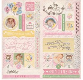 Die-cuts 30x30 'Authentique - Swaddle Girl' Elements