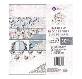 Assortiment de 30 papiers doubles 15x15 'Prima - Poetic Rose'